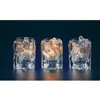 Club Pack of 12 Icy Crystal Christmas Nativity Votive Candle Holders 3.8""