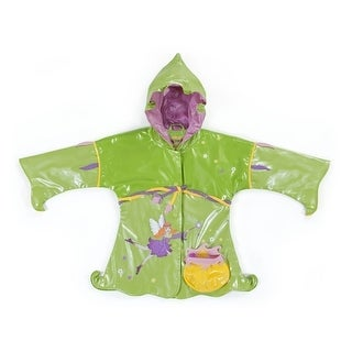 Kidorable Little Girls Green Fairy Pouch Pocket Hooded Rain Coat 2T-6X