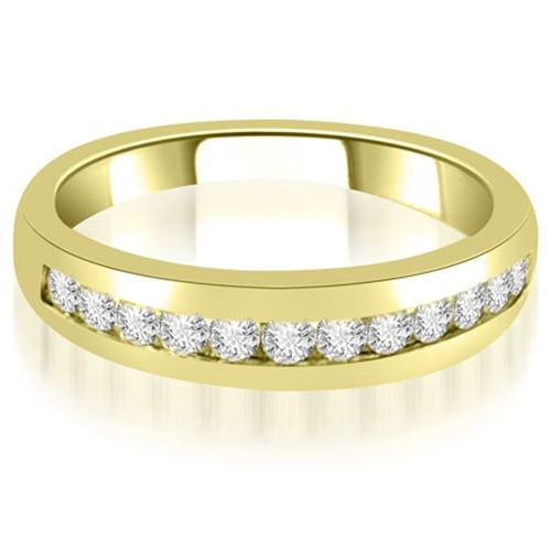 0.36 cttw. 14K Yellow Gold Channel Set Round Cut Diamond Wedding Band