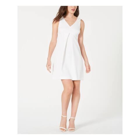 TRINA TURK White Sleeveless Mini Pleated Dress Size 16
