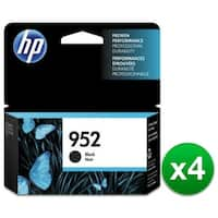 HP 952 High Yield Black Original Ink Cartridge (F6U15AN)(4-Pack)