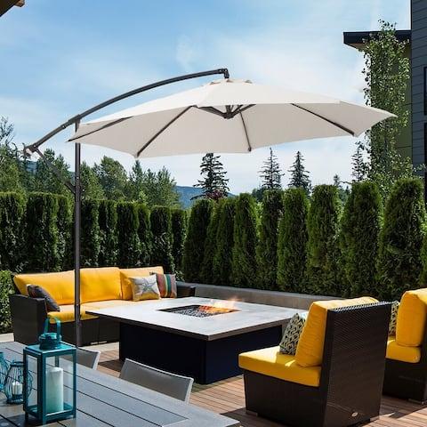 Zenova 10ft Solar Patio Umbrella 360-Degree Outdoor