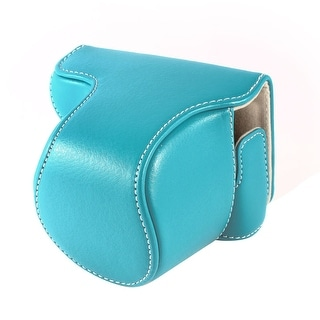 Light Blue Digital DSLR SLR Camara Mini Pouch Bag Case w Shoulder Strap