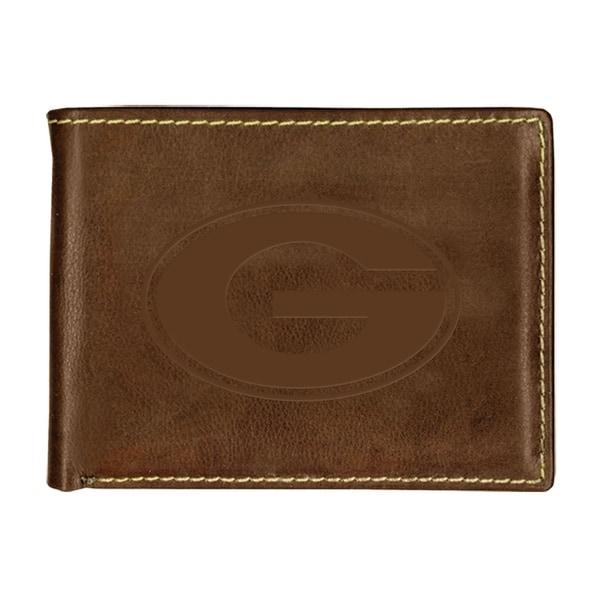 University of Georgia Contrast Stitch Bifold Leather Wallet
