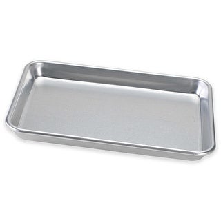 Nordic Ware Naturals Aluminum Bakers Quarter Sheet Baking Pan, 11.35x8x1 Inches - Silver