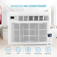 DELLA 12000 BTUs Window Mounted Air Conditioner White up to 550 Square Energy Star 115V Remote Control Washable Filter