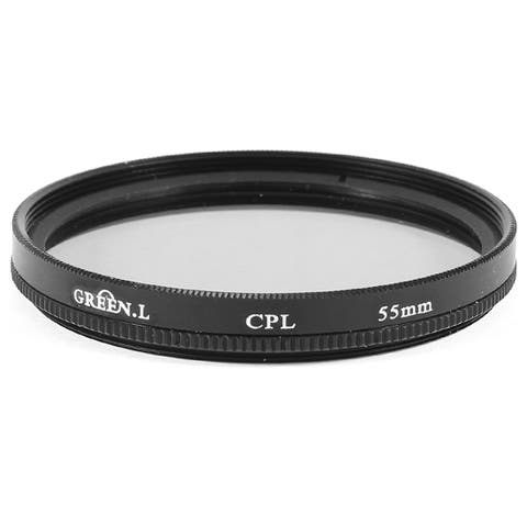 Unique Bargains Round Black Clear Circular Polarizer CPL Filter 55mm for DSLR Camera Lens