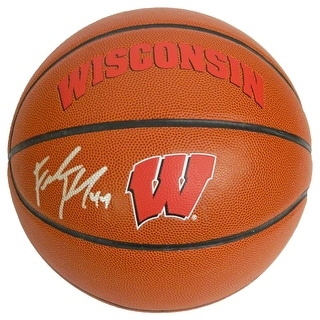 Frank Kaminsky Signed Wisconsin Badgers Rawlings Logo Basketball