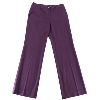 Karl Lagerfeld NEW Purple Women's Size 10 Straight Leg Dress Pants