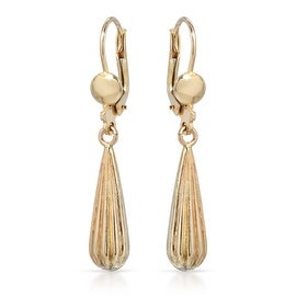MCS JEWELRY INC 10 KARAT YELLOW GOLD DANGLING DROP EARRINGS (1.5 INCHES)