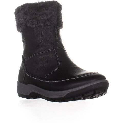 ECCO Trace Fleece Lined Snow Boots, Black/Dark Shadow
