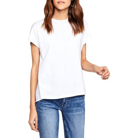 BCBGeneration Womens Blouse Mixed Media Tiered
