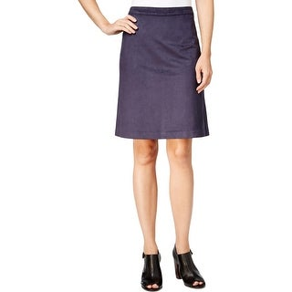 Tommy Hilfiger Womens Straight Skirt Faux Suede Knee Length