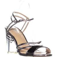 TS35 Carsyn Ankle Strap Buckle Sandals, Pewter