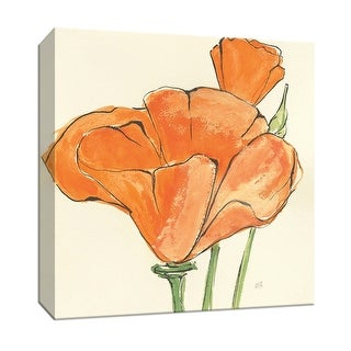 """PTM Images 9-153273  PTM Canvas Collection 12"""" x 12"""" - """"Sunshine Poppy IV"""" Giclee Flowers Art Print on Canvas"""
