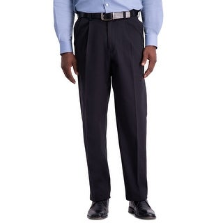 Link to Haggar Mens Pants Navy Blue Size 38X29 Relaxed Fit Pleated Stretch Similar Items in Big & Tall