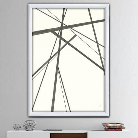 Designart 'minimalist black and white III' Transitional Framed Art Print