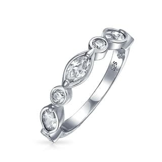 Bling Jewelry Bridal Vintage Style Band Round Marquise CZ Ring 925 Silver|https://ak1.ostkcdn.com/images/products/is/images/direct/46a2c9f8d1de3c6368a71dbcd25215b21f260a5a/Bling-Jewelry-Bridal-Vintage-Style-Band-Round-Marquise-CZ-Ring-925-Silver.jpg?impolicy=medium
