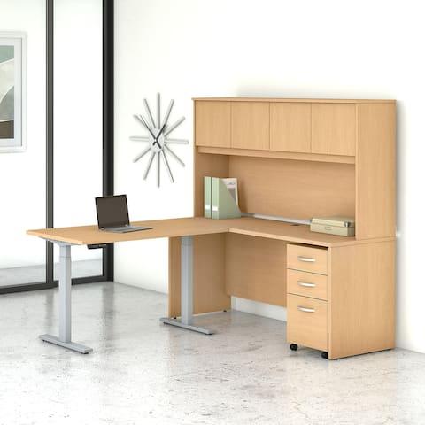 Studio C 72W Adjustable L Desk with Storage by Bush Business Furniture