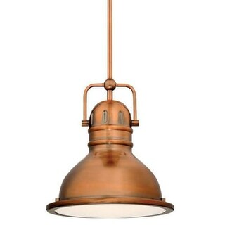 "Westinghouse 63084A Boswell 9"" Wide Single Light LED Mini Pendant with Metal Shade"