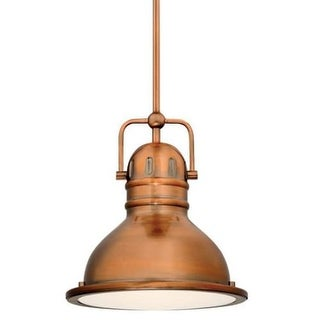 """Westinghouse 63084B Boswell 9"""" Wide Single Light LED Mini Pendant with Metal Shade"""