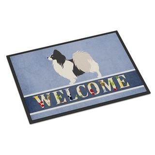 Carolines Treasures BB8322JMAT Papillon Welcome Indoor or Outdoor Mat - 24 x 36 in.
