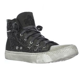 Studswar Cecilia High-Top Studed Sneakers, Army