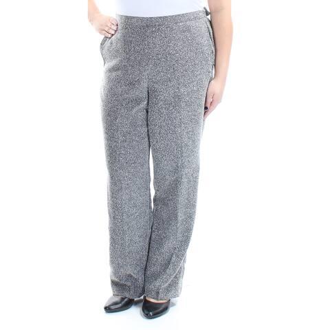 ALFRED DUNNER Black Straight leg Pants Size 16