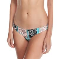 Seafolly Black Blue Womens Size 12 Moroccan Printed Bikini Bottom