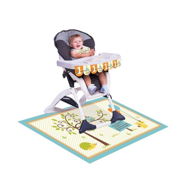 Shop Pack Of 6 Happi Woodland Baby Boys 1st Birthday High Chair Decorating Kits