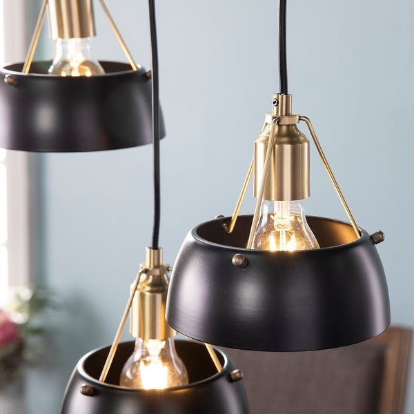 Strick & Bolton Rabruo Contemporary Metal 3-Light Cluster Pendant. Opens flyout.