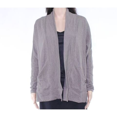prAna Womens Sweater Mud Brown Size XS Cardigan Open Front Stretch
