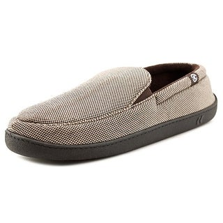 Isotoner A91342 Men Round Toe Synthetic Tan Slipper