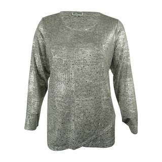 JM Collection Women's Embellished Long Sleeves Top - 2x