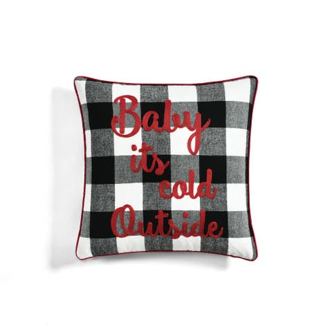 """Lush Decor """"Baby Its Cold Outside"""" Decorative Throw Pillow"""