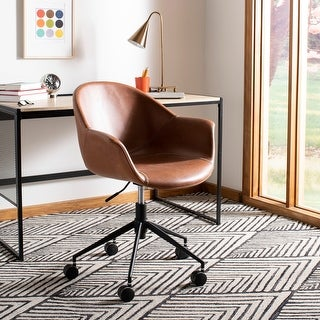 "Safavieh Ember Office Chair - Light Brown - 27.2"" x 26.4"" x 31.5"""