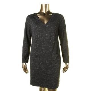 Studio M Womens Space Dye Long Sleeves Wear to Work Dress - XL