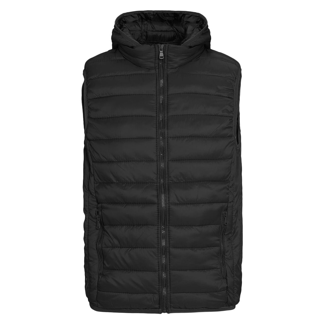 Mens black size large packable down vest colleague room tesco pension investment