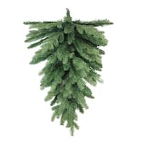 "30"" Coniferous Mixed Pine Artificial Christmas Teardrop Swag - Unlit - green"