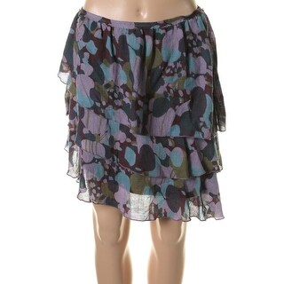 Catherine Malandrino Womens Printed Asymmetric A-Line Skirt - 4