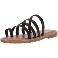 Dirty Laundry Women's Ekia Slide Sandal, Silver Sparkle, Size 7.5