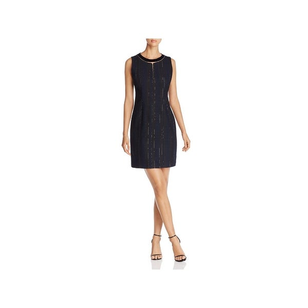 T Tahari Womens Cambria Cocktail Dress Textured Sleeveless