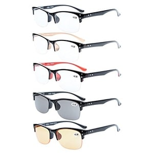 Eyekepper 5-pack Half-rim Reading Glasses Include Computer Readers+1.25