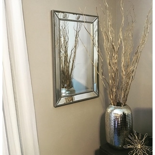Headwest Metro Beaded Wall Mirror - Silver/Champagne - 20x 32
