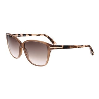 Tom Ford FT0432 45F DANA Brown Rectangular Sunglasses