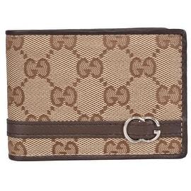 Gucci Men's 268508 Beige Canvas GG Guccissima Bifold Wallet