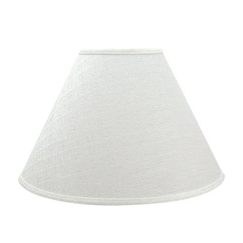 "Aspen Creative Hardback Empire Shaped Spider Construction Lamp Shade in Off White (7"" x 18"" x 12 1/2"")"