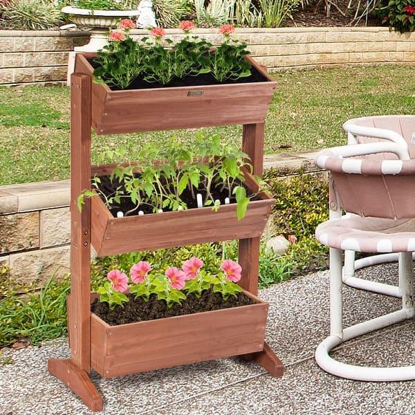 Shop 3 Tier Raised Garden Bed Vertical Freestanding Elevated