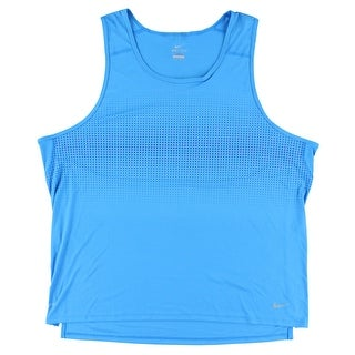 Nike Mens Graphic Relay Running Tank Top Sky Blue - sky blue/dark blue - XxL