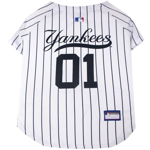 Shop MLB New York Yankees Pet Jersey - On Sale - Free Shipping On Orders  Over  45 - Overstock.com - 12237962 28c276c34
